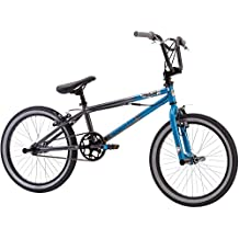 "20"" Mongoose Mode 100 Boys' BMX Outdoor Bike, Blue/Gray"