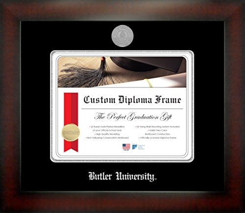 Butler University 8½ x 11 Mahogany Finish Infinity Diploma Frame by Celebration Frames by Celebration Frames