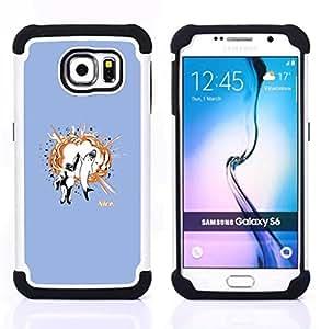 BullDog Case - FOR/Samsung Galaxy S6 G9200 / - / Funny Awesome Shark High Five /- H??brido Heavy Duty caja del tel??fono protector din??mico - silicona suave
