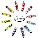 TKOnline 12pcs Band Wrist Bell Musical Rhythm Toys Jingle Bells Ankle Bells Instrument Percussion Orchestra Rattles Toy For Kids
