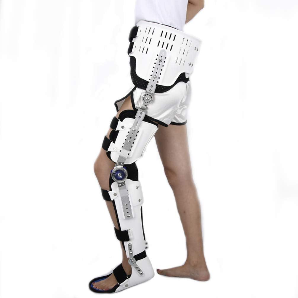 ROY Órtesis de Cadera, Rodilla y Tobillo, inmovilizador médico Soporte de Rodilla Protector ortopédico Protector para Fractura de Cadera/femoral, Fractura de Muslo