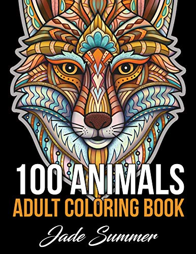 100 Animals: An Adult Coloring Book with Lions, Elephants, Owls, Horses, Dogs, Cats, and Many More! por Jade Summer