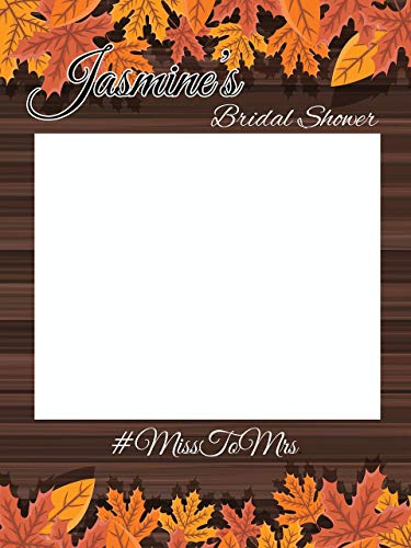 Custom Fall Bridal Shower Photo Booth Frame -