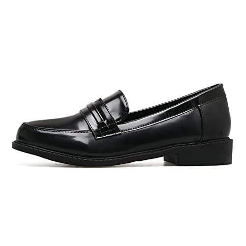 ea4c1f2bf84f1 Amazon.com | Meeshine Women's Leather Penny Loafer Comfort Casual Slip On  Dress Shoes (9 B(M) US, Black) | Loafers & Slip-Ons