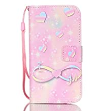 Galaxy S7 Wallet Case, SAVYOU S7 Phone Cover Case Flip PU Leather Wallet Flip Case Stand Cover Case for Samsung Galaxy S7 (ER-Pink knot)
