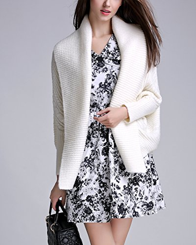Cardigan Manteaux Bonnetterie Veste Cardigan Coat Beige Casual Pull over Tricotage Longues Femme Manches Oversized PTwa7adq