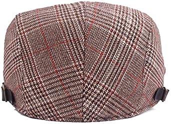 DRAGONHOO Men Women Peak Blinder Hat Baker Boy Hat Cap Peak Newsboy Herringbone Flat Cap
