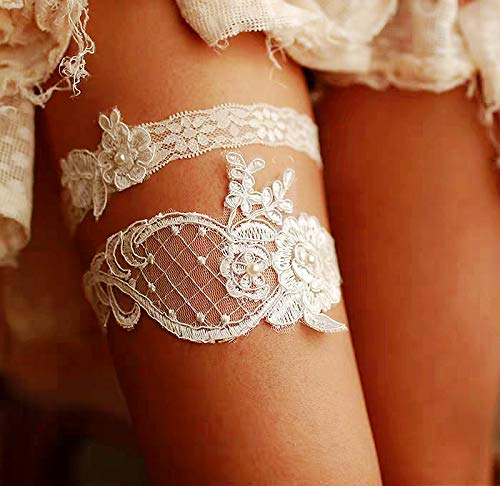 Bridal Garter Set Stretch lace garters