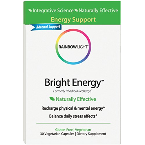 Rainbow Light – Bright Energy, Naturally Effective Support to Recharge Energy and Promote a Healthy Stress Response with Green Tea, B Vitamins and Ashwagandha, Vegetarian, Gluten-Free, 30 Capsules