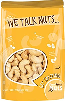 Dry Roasted CASHEWS Himalayan Salted - Small Batch - Oven Roasted - Without Oil - By Farm Fresh Nuts