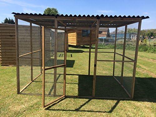 4wire Caja de Animales de 1,82 m x 2,74 m con Techo de Rana de ...