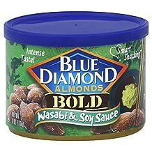 Blue Diamond Bold Wasabi & Soy Sauce Almonds 6 oz (Pack of 12) by Blue Diamond Almonds