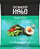 1 case of 12 bags (120 sheets) of Ocean's Halo Organic Sushi Nori