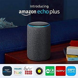 All-new Echo Plus (2nd gen) – Premium sound with a built-in smart home hub-Black 51H9ne0vASL