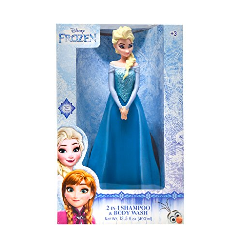 Price comparison product image Blumen 2-in-1 Disney Frozen Shampoo and Body Wash - Frozen Toy and Figurine, Ocean Beauty Aroma, 13.5 ounces (Elsa)