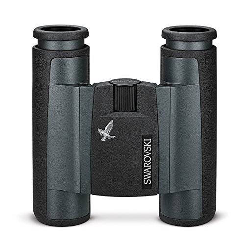 Swarovski Optik 8x25 CL Pocket Mountain Water Proof Roof Prism Binocular with 6.8 Degree Angle of View, Black Rubber Armoring