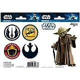 AbyStyle - Stickers - Star Wars 16x11cm Yoda/Symboles - 3760116310338