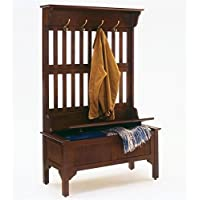 Bowery Hill Full Hall Tree Storage Bench in Cherry