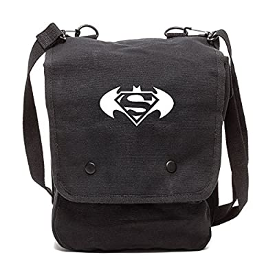 Batman Superman with Round Wings Rucksack Backpack with Leather Straps