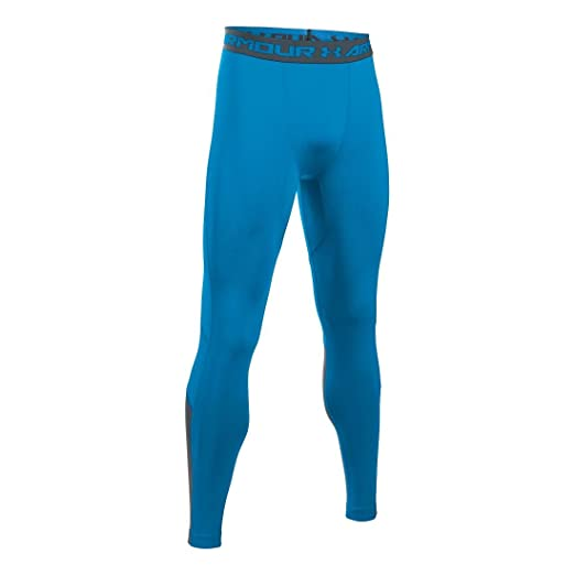 6d3ad0e0b0 Under Armour Men's HeatGear CoolSwitch Compression Legging, Brilliant Blue/ Grey, ...