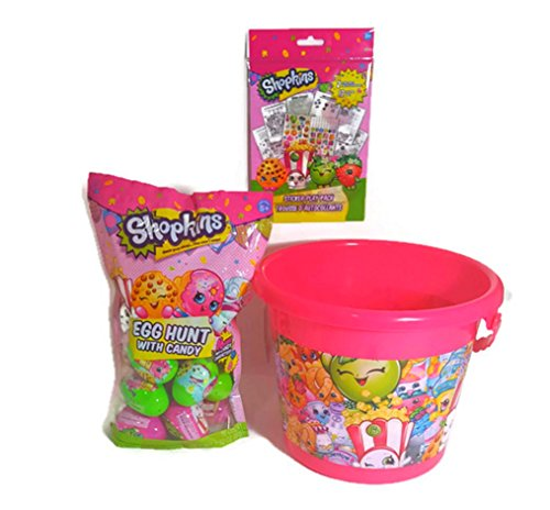 Easter Egg Hunt (Shopkins Easter Basket of Goodies) 16 Candy Filled Eggs and Sticker Play Pack