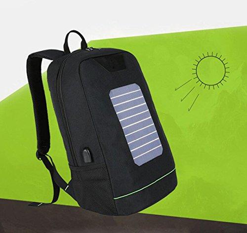 Bolso Solar Del Estudiante Del Recorrido Del Ocio Del Morral Del Ordenador Portátil Del Bolso De Hombro De La Carga Solar De Los Hombres Y De Las Mujeres Blue