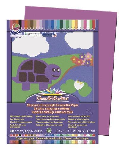 Sunworks 9x12 Construction Paper - Magenta (Purple Construction Paper)