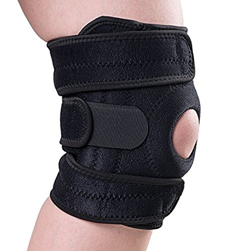 Kany Knee Support Breathable Knee Brace Nonslip Elastic Patellar Tendon ACL Knee Strap Support Protector Stabilizer Wrap Pads Fit Running,basketball and Other-adjustable Size for Man and Women -