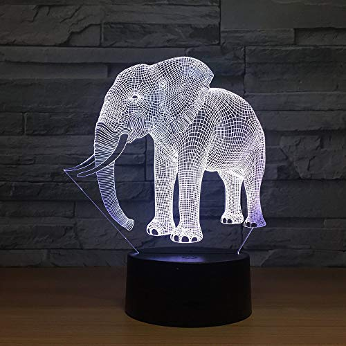 - Kabeto Birthday Gift Night Lights Ivory Elephant 3D LED Night Lights Novelty LED Animal Lamp 7 Colorful Changing LED Touch Table Lamp