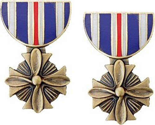 Military Distinguished Flying Cross Medal Hat Pin 2 Pack