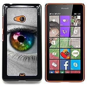 Colorful Eye Iris Caja protectora de pl??stico duro Dise?¡Àado King Case For Microsoft Nokia Lumia 540 N540