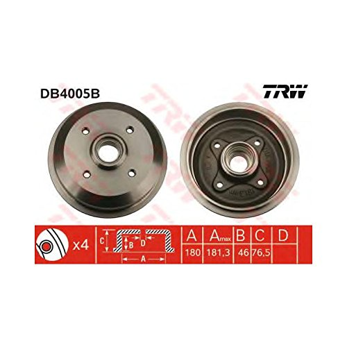 TRW DB4005B Brake Drums: