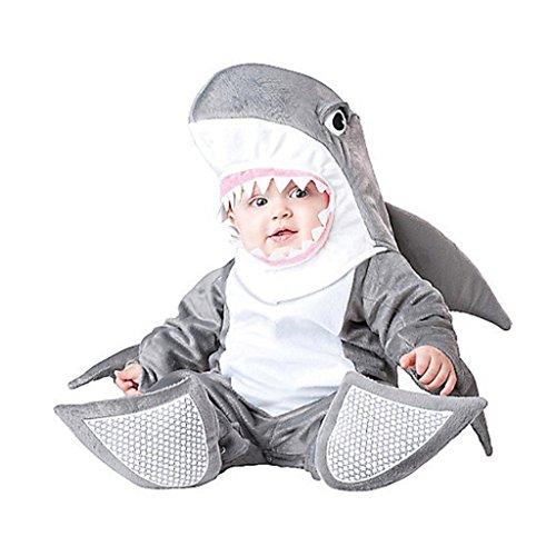 [Dantiya Baby Little Shark Halloween Play Romper Costume 12-18M] (Baby Cow Halloween Costumes)