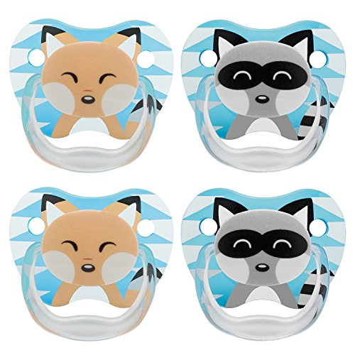 dr-browns-classic-pacifier-0-6m-animal-faces-blue-4-count