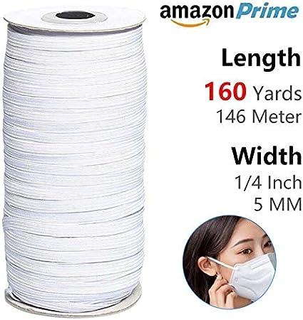 137 Mètre Elastique LIVRAISON RAPIDE Couture 3mm Blanc Élastique Couture,