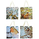 Esschert Design TP138 Shopping Bag Nature Print, Assorted