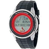 Game Time Men's 'Schedule Watch' Quartz Plastic and Polyurethane Casual, Color:Black (Model: MLB-SW-STL)