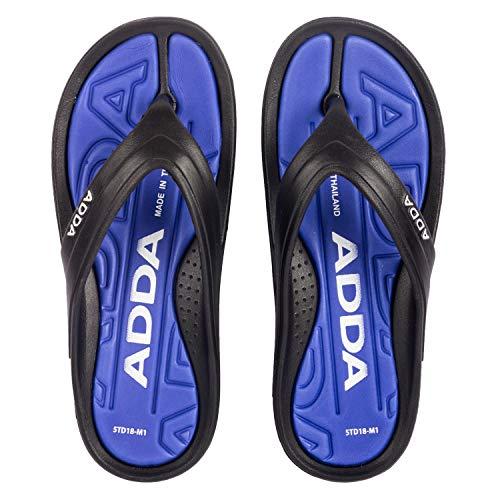 ADDA 2D SMAASH-1 Men's Black/Blue EVA Slipper Flip-Flop (UK 9) (B085DKGVT6) Amazon Price History, Amazon Price Tracker