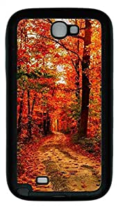 Samsung Galaxy Note II N7100 Cases & Covers - Maple Make Dye TPU Custom Soft Case Cover Protector for Samsung Galaxy Note II N7100 - Black
