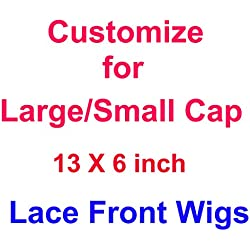 Customize LARGE or SMALL Size Cap For This 13X6 Lace Front Wigs Human Hair,12inch