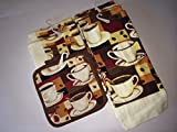 Coffee Lover's Themed Kitchen Towel Gift Set 10 Pieces