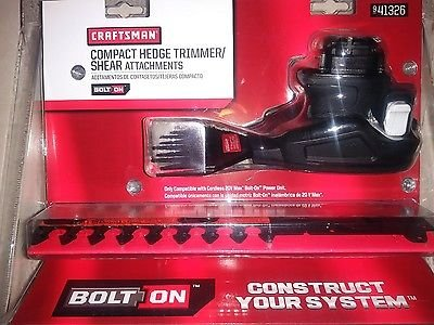 Craftsman 20V Bolt On Hedge Trimmer and Shear Attachments (Accessory only) by Craftsman