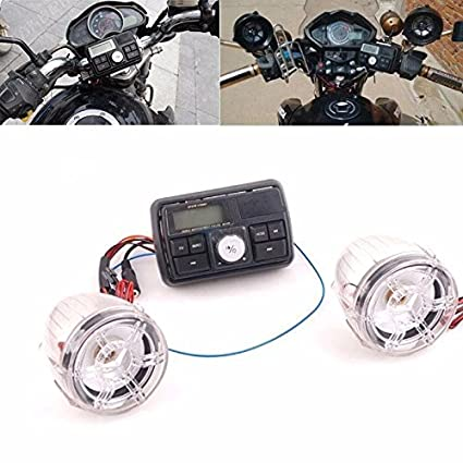 Amazon.com: Motorcycle Bluetooth Handlebar Audio System FM Radio Stereo Amplifier Speaker: Car Electronics