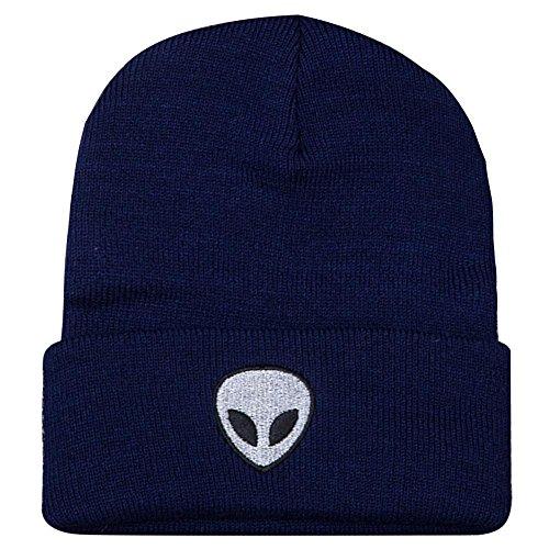 Blanco de Estándar nbsp;– sombreros Cap Beanie cálido punto Unisex nbsp;color Azul Cap PAWACA acrílico Marino sólido 7qRwO