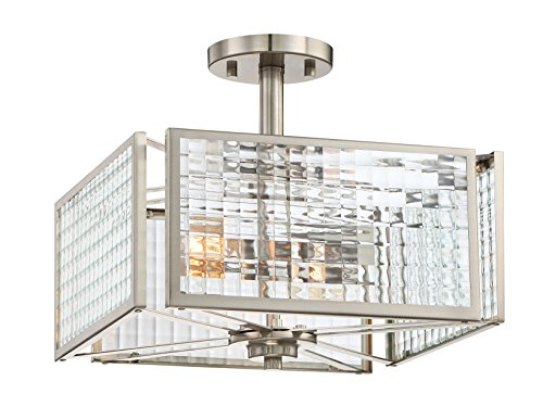 Designers Fountain 88811-SP Pivot 2 Light Semi-Flush, Satin - Ceiling Platinum Semi Lamp Flush