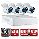 Best Night owl Wireless Security Cameras - Night Owl Security WMBF-445-720 4 Channel 720p HD Review