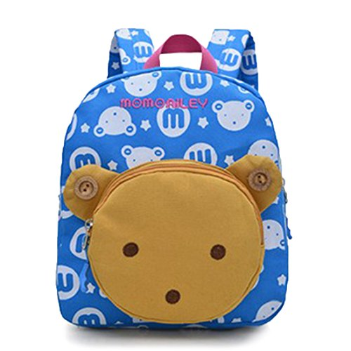 BeneKing Cartoon Children Schoolbag Kindergarten Schoolbag 1-3 year-old Baby Backpack Canvas Bag Double Shoulder Bag (Shoulder Pads Quest)