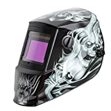 Antra AH6-660-6218 Solar Power Auto Darkening Welding Helmet with AntFi X60-6 Wide Shade Range 4/5-9/9-13 with Grinding Feature Extra lens covers Good for TIG MMA MIG Plasma