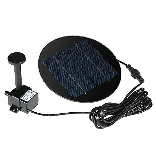 Anself Solar Panel Solar Powered Fountain Submersible Brushless Water Pump Kit for Bird Bath Pond Pull Garden