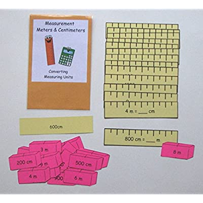 Teacher Made Math Center Converting Measurement Units Meters & Centimeters: Toys & Games